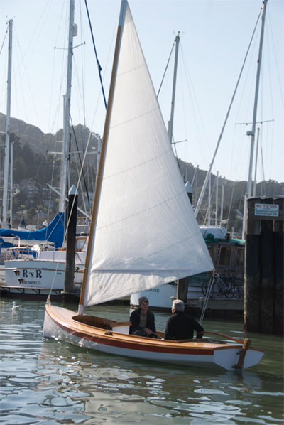 This is one of the boats used in our weekly sails on Richardson Bay
