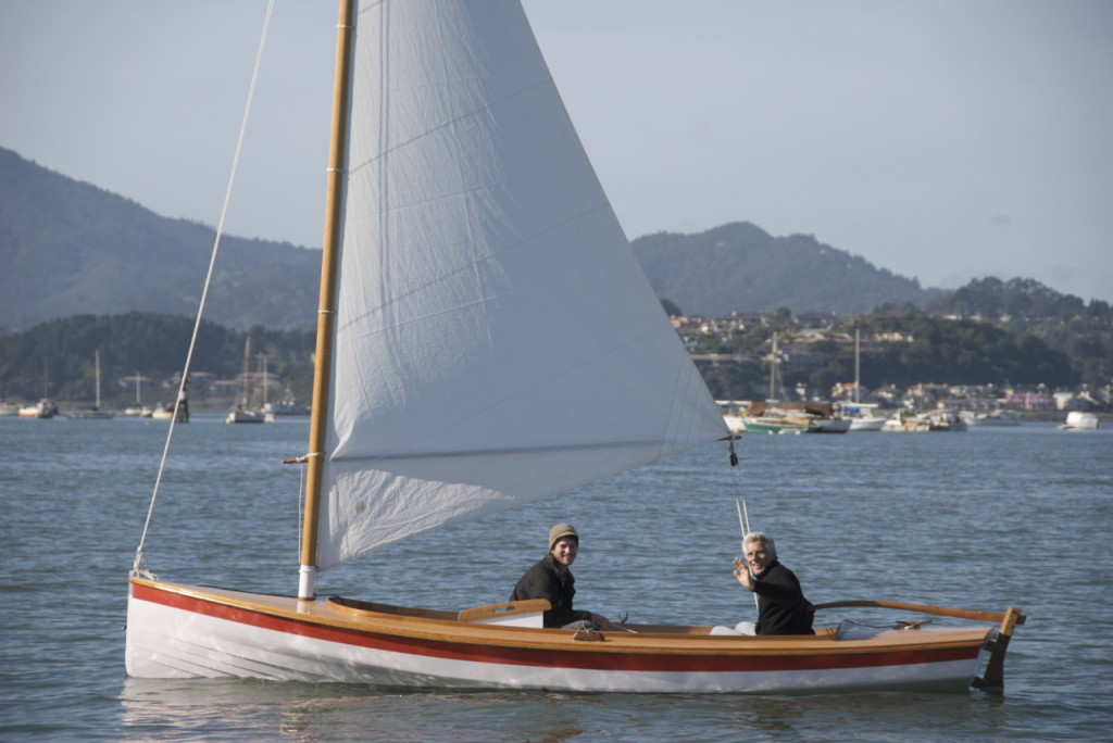 Apprentice Scott Ryan and instructor Robert Darr out for a sail on Lil Gal.